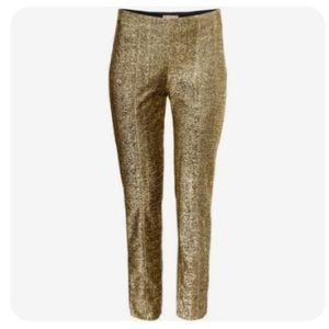 H&M Glittery Gold Trousers